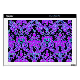 """Fancy Floral Damask 17"""" Laptop Skins"""