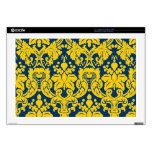 """Fancy Floral Damask Decal For 17"""" Laptop"""