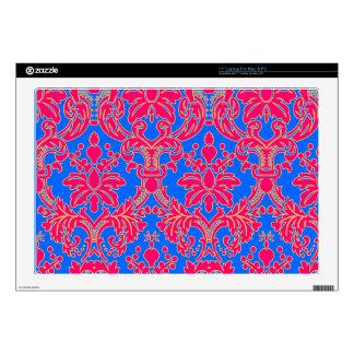 """Fancy Floral Damask Skin For 17"""" Laptop"""