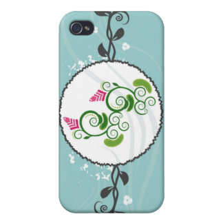 Fancy Floral Decor i Case For iPhone 4