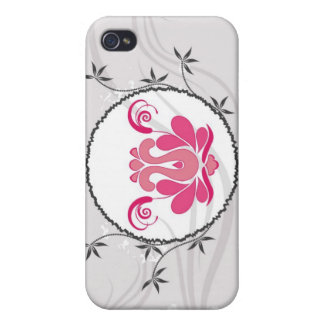 Fancy Floral Decor i iPhone 4 Cover
