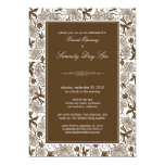 """Fancy Floral Grand Opening Invitation (chocolate) 5"""" X 7"""" Invitation Card"""