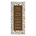 """Fancy Floral Grand Opening Invitation (chocolate) 4"""" X 9.25"""" Invitation Card"""