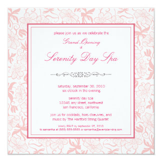 Fancy Floral Grand Opening Invitation (pink)