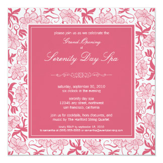 Fancy Floral Grand Opening Invitation (rose)