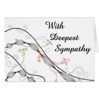 Fancy Floral Large Font Sympathy Card