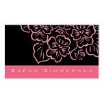 Fancy Floral Rose Pink Business Card