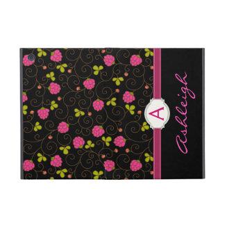Fancy Floral Swirls Monogram Folio iPad Mini Cases