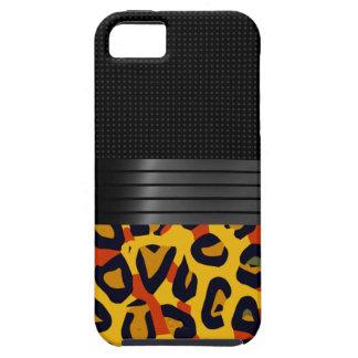 Fancy Florescent Yellow Orange Cheetah iPhone SE/5/5s Case