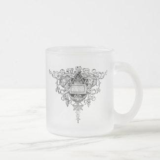 Fancy Flourish Frosted Glass Mug
