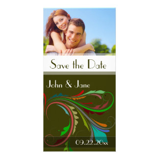 "Fancy Flourish /photo ""Save the Date"" Photo Card"