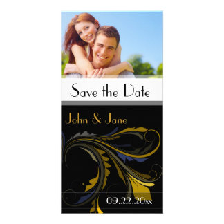 "Fancy Flourish /photo ""Save the Date"" Photo Greeting Card"