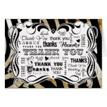 Fancy Flourishes and Zebra Chalkboard Text Thank Y Greeting Card