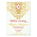 Fancy Flourishes Golden Bridal Shower Invitation