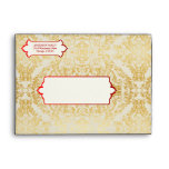 Fancy Flourishes Golden Indian Arabic Envelope