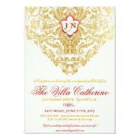 Fancy Flourishes Golden Reception Only Invites 5&quot; X 7&quot; Invitation Card (<em>$2.22</em>)