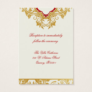 Fancy Flourishes Golden Wedding Reception Cards