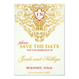 Fancy Flourishes Golden Wedding Save the Dates Card