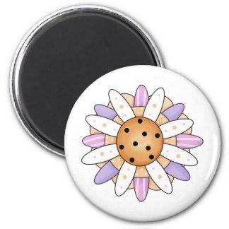 Fancy Flower Fridge Magnets