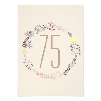 Fancy Flowers and Diamonds 75th Birthday Card