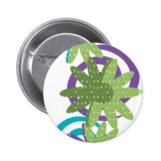 Fancy Flowers Pinback Button