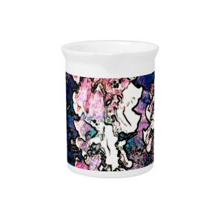 Fancy Foxglove Floral Art Pitcher