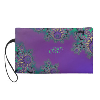 Fancy Fractal Monogram Clutch Wristlet