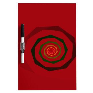 Fancy Fractal Swirl Maroon & Green Dry Erase Board