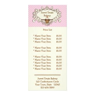 Fancy Frame Pink Buttercream Cupcake Rack Card