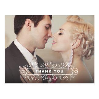 FANCY FRAME | WEDDING THANK YOU POST CARD