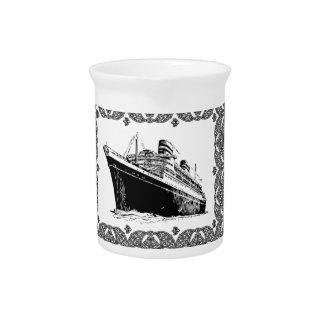 fancy framed oceanliner drink pitcher