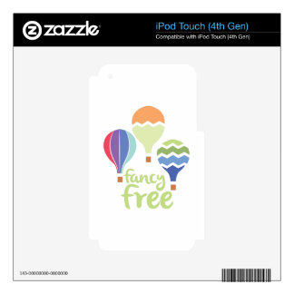 Fancy Free iPod Touch 4G Skins