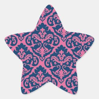 Fancy French Damask Star Sticker
