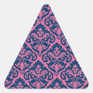 Fancy French Damask Triangle Sticker