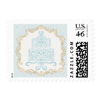 Fancy French Style Cake Postage Stamp