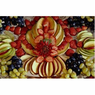 Fancy fruit plate standing photo sculpture