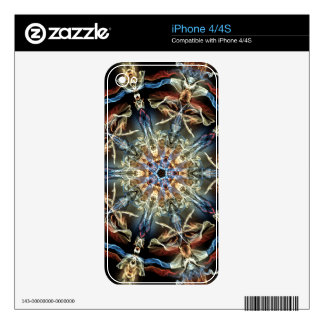 Fancy & Fun Fractals With Cool Mandala Patterns Skin For iPhone 4