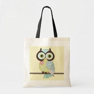 Fancy Funky Owl Tote Bag