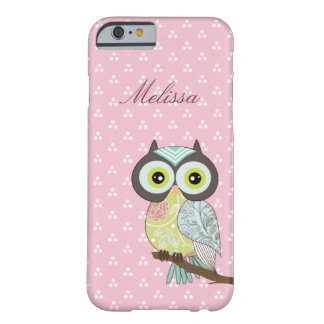 Fancy Funky Pink Owl iPhone 6 case