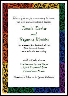 Commitment Ceremony Invitations Zazzle