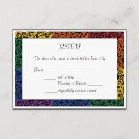 Fancy Gay Pride Custom Commitment Ceremony RSVP