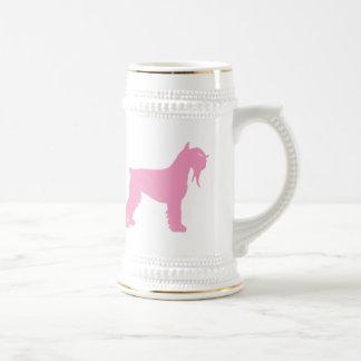 Fancy Giant Schnauzer (pink) Beer Stein