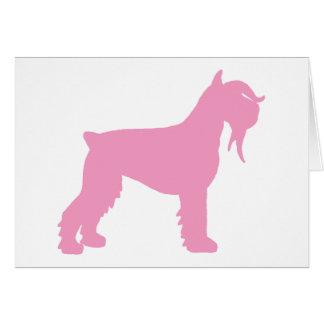 Fancy Giant Schnauzer (pink) Card