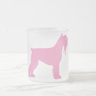 Fancy Giant Schnauzer (pink) Frosted Glass Coffee Mug