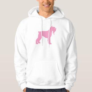 Fancy Giant Schnauzer (pink) Hoody