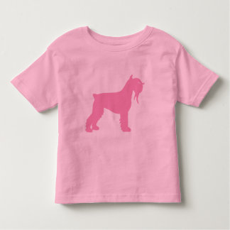 Fancy Giant Schnauzer (pink) Toddler T-shirt