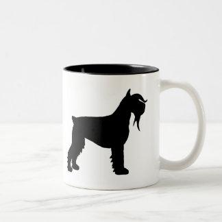 Fancy Giant Schnauzer Two-Tone Coffee Mug