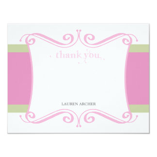Fancy Girl Custom Thank You Note Card