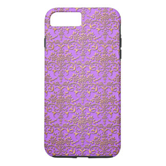 Fancy Gold and Fucshia Damask Pattern Floral iPhone 8 Plus/7 Plus Case