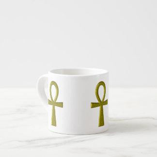 Fancy Gold Ankh Epresso Mug